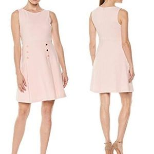 Ivanka Trump pink  fit and flare dress